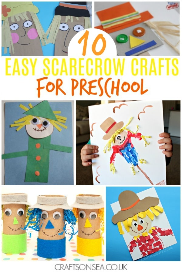 scarecrow crafts for kids preschool easy