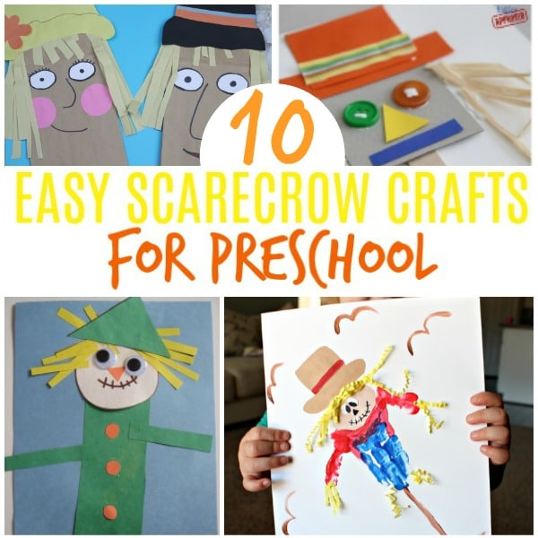 scarecrow crafts preschool fun