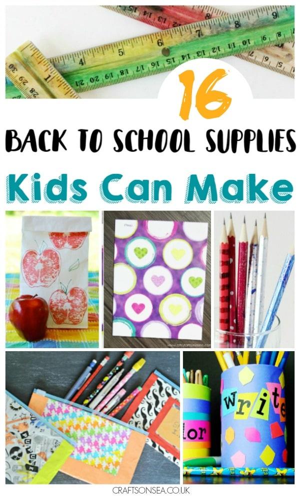 school supplies diy
