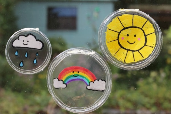weather stained glass suncatchers for kids