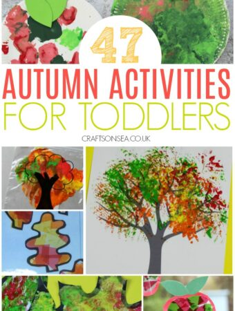 collage image of autumn activities for toddlers with fine motor ideas art ideas trees and apples