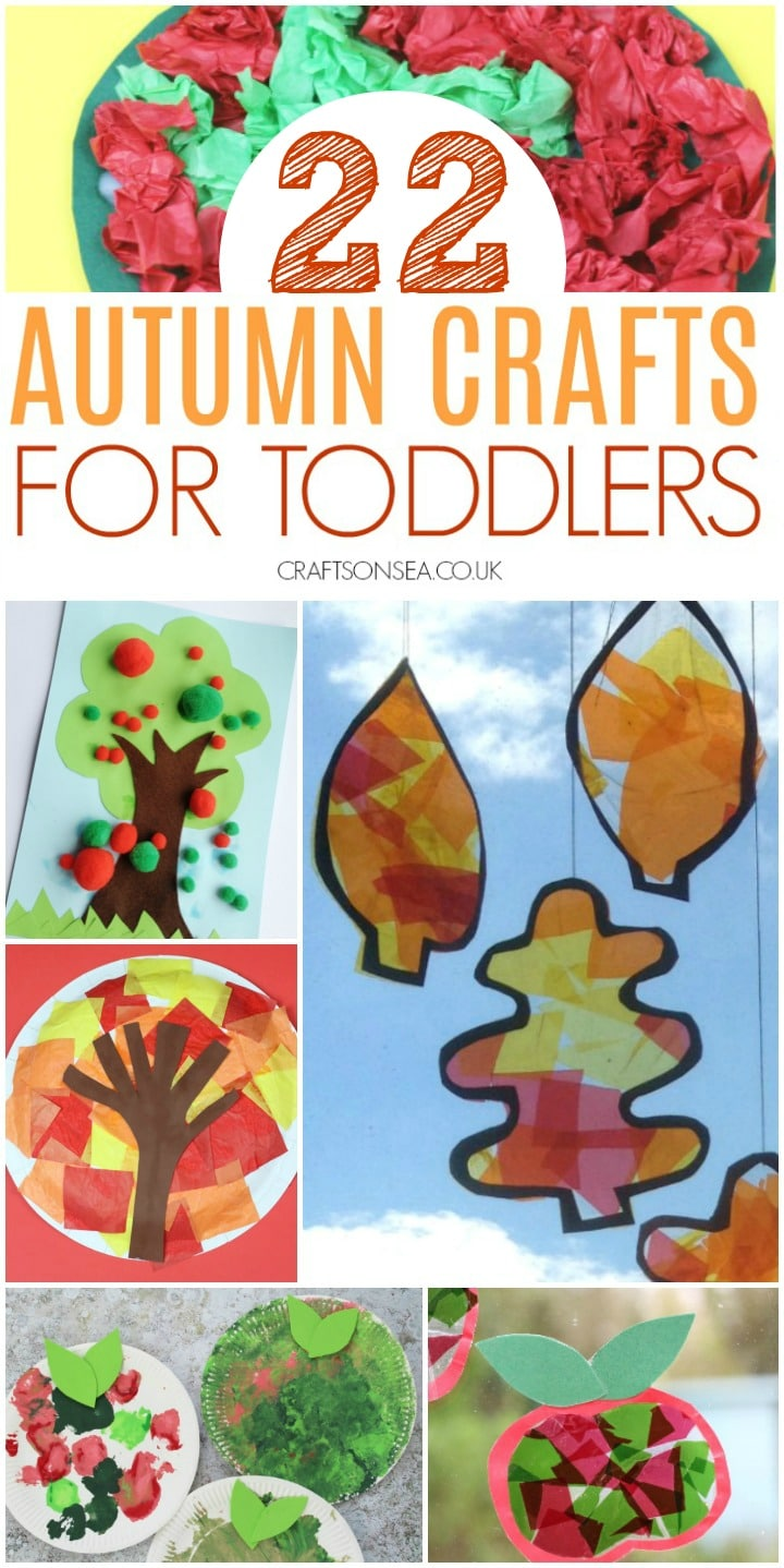 autumn crafts for toddlers with fine motor skills and art ideas