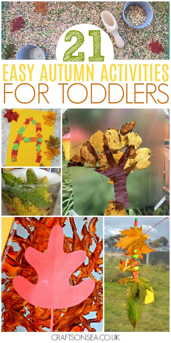 easy autumn activities for toddlers fall