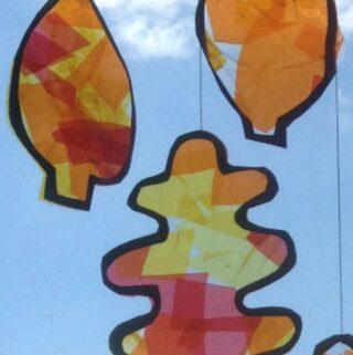 fall craft for kids autumn leaf suncatchers