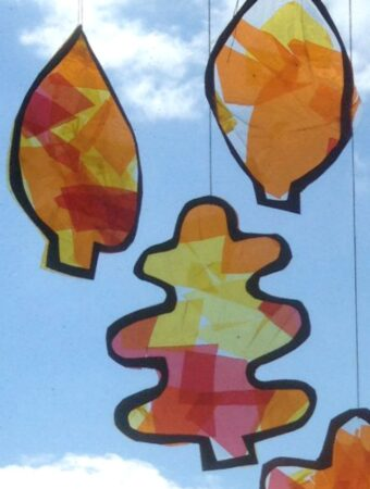 fall craft for kids autumn leaf suncatchers