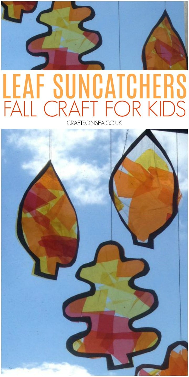 fall craft for kids leaf suncatchers