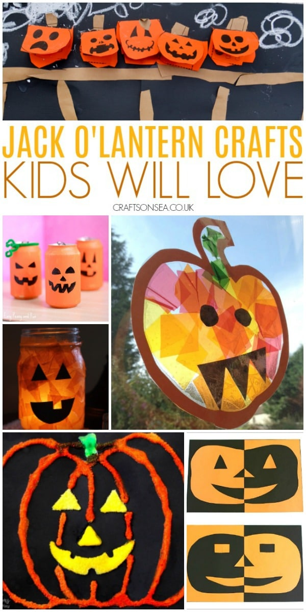 JACK O'LANTERN CRAFTS FOR KIDS
