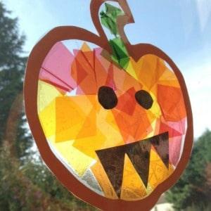 Glasmalerei-Kürbis-Handwerk-für-Kinder 300