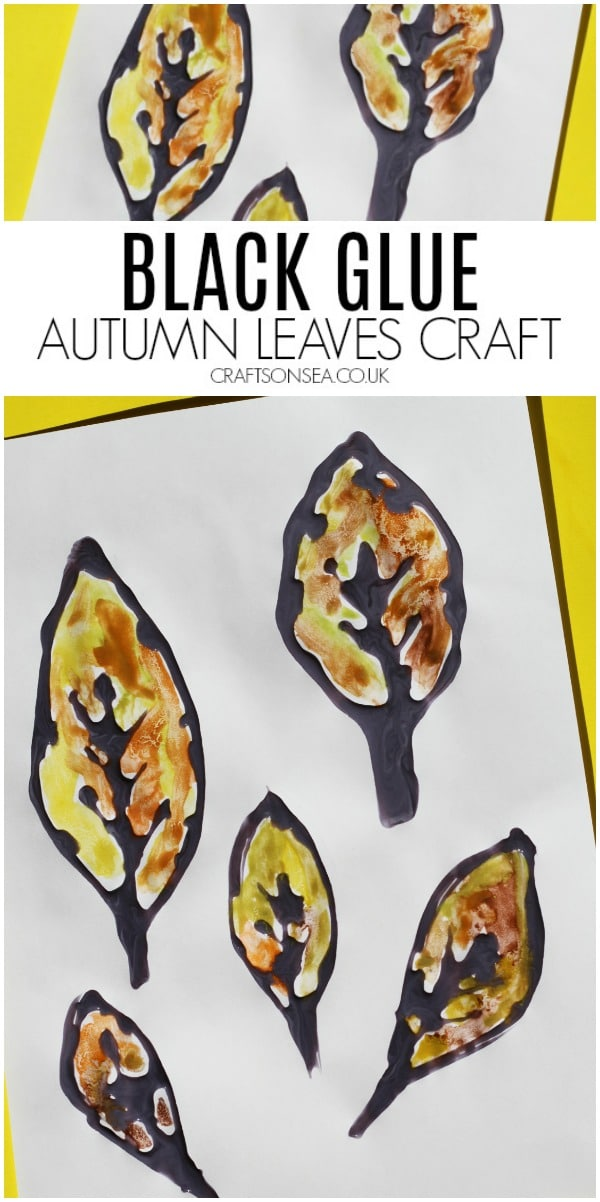 autumn leaves craft for kids black glue