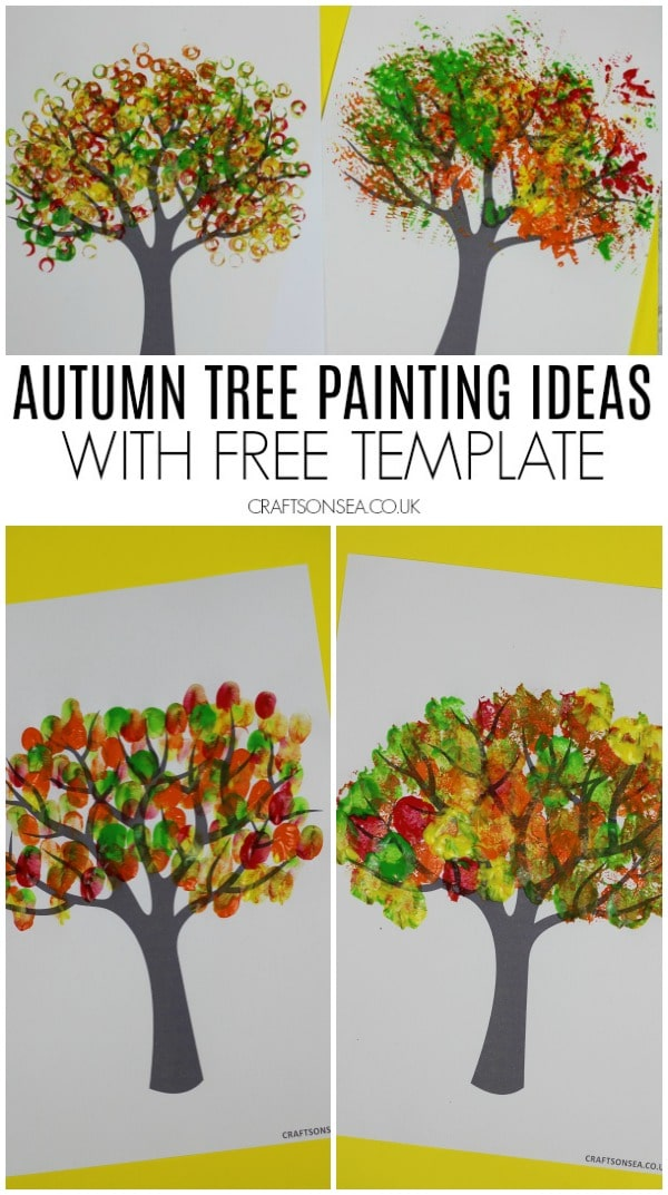 Autumn Tree Painting Ideas For Kids Crafts On Sea