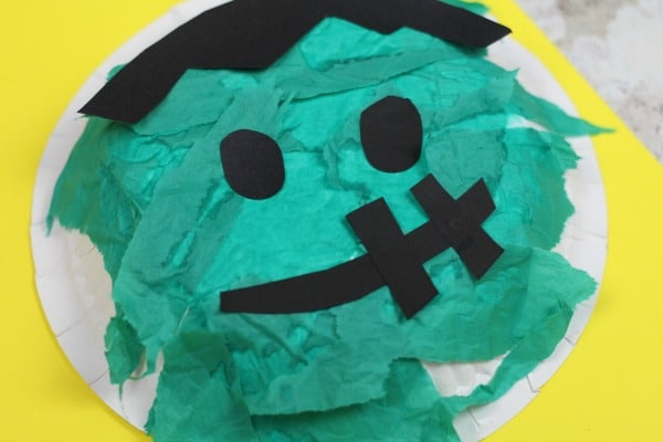 easy frankenstein craft for kids paper bowl