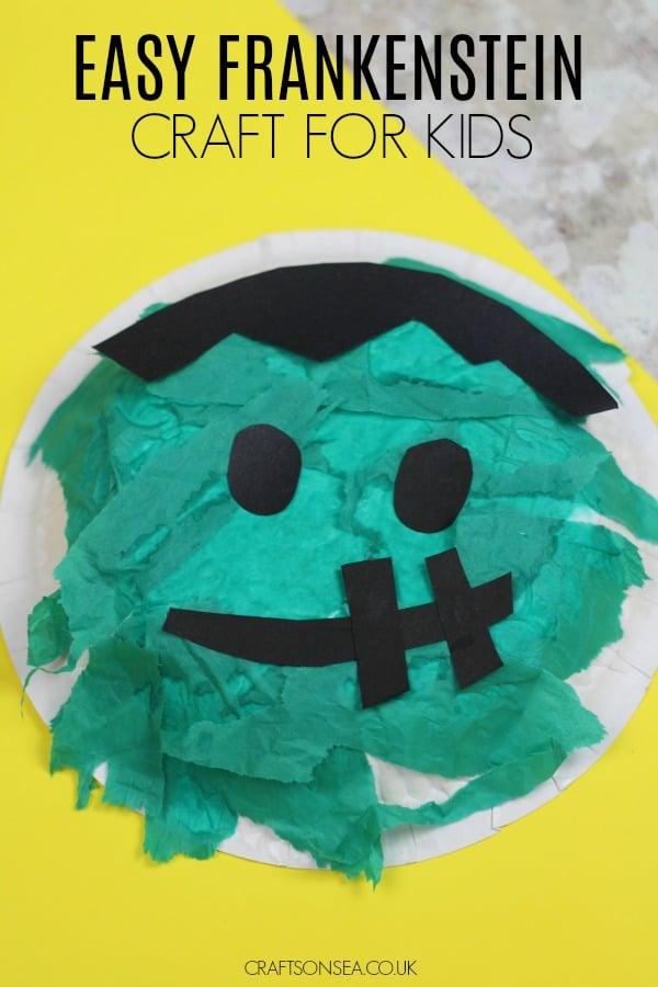 frankenstein craft for kids preschool