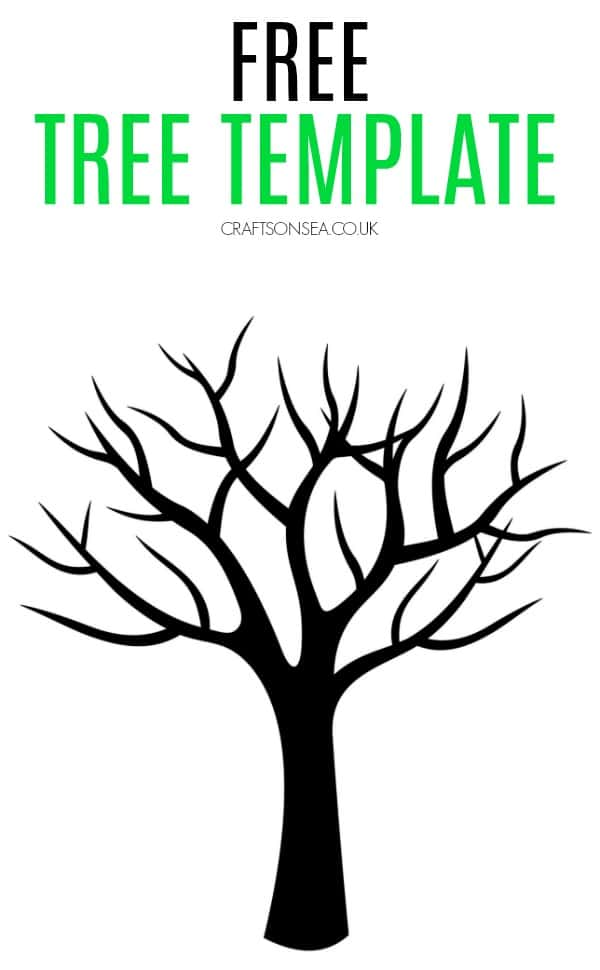 free tree template four seasons craft spring fall