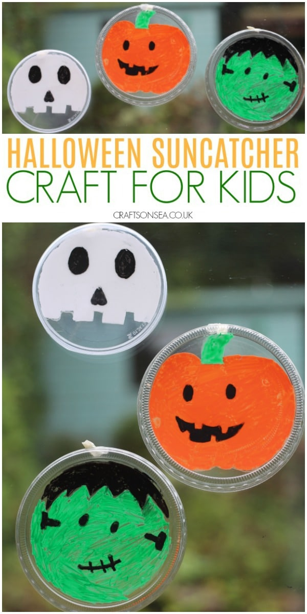 halloween crafts for kids easy recycled suncatchers