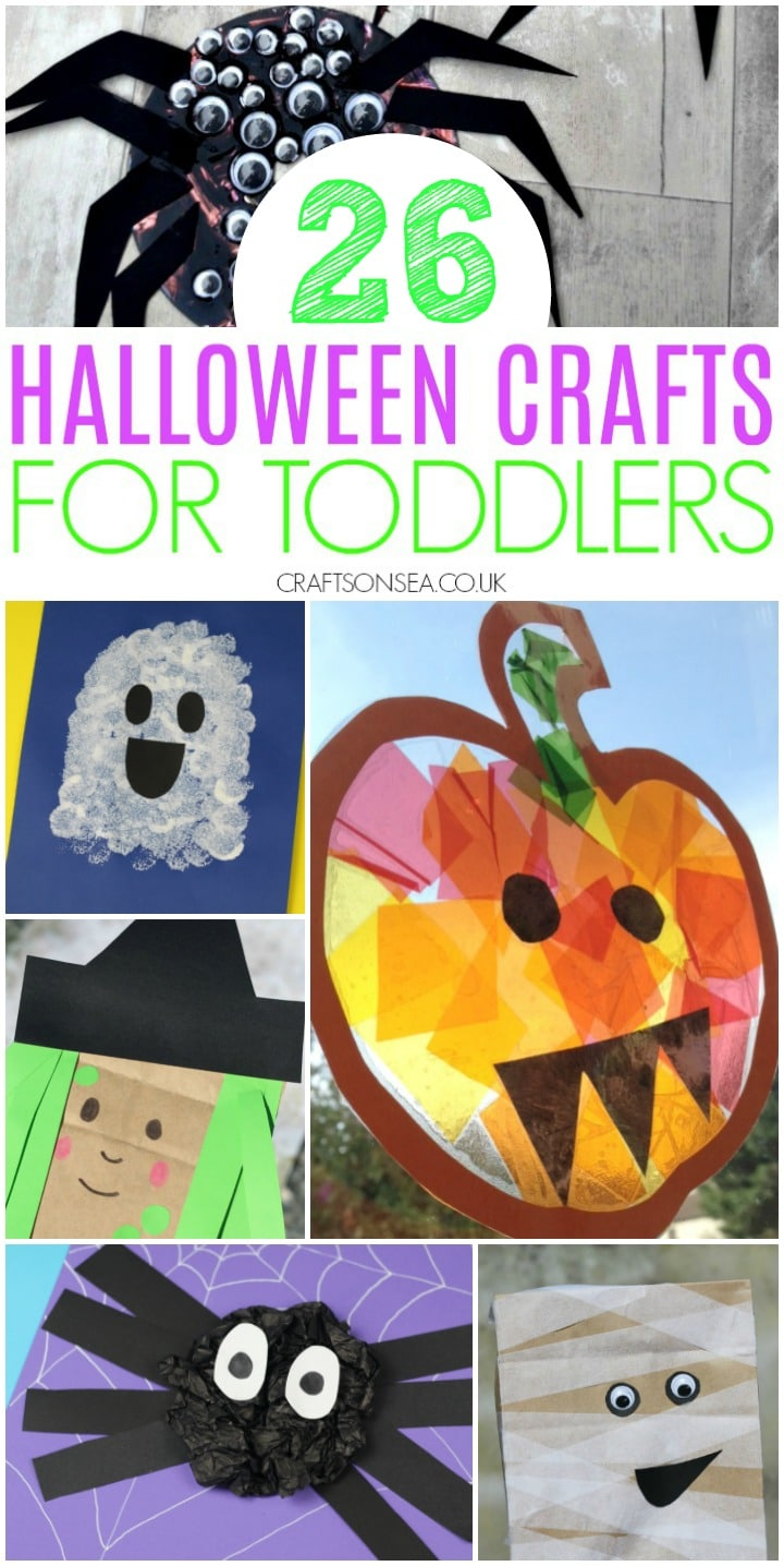 collage of halloween crafts for toddlers easy ideas with pumpkins witches ghosts