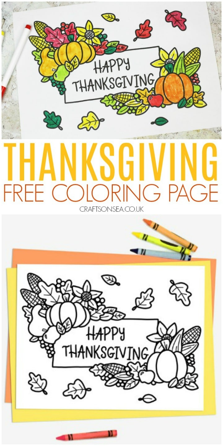 Thanksgiving activities for kids free coloring page
