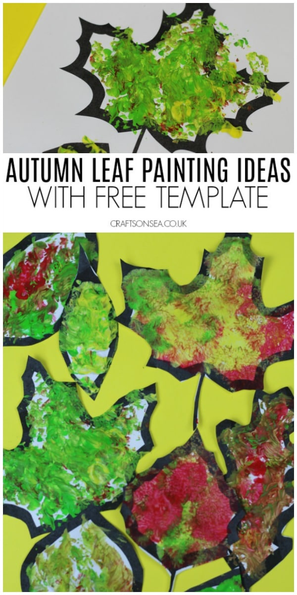 autumn leaf crafts for kids fall template