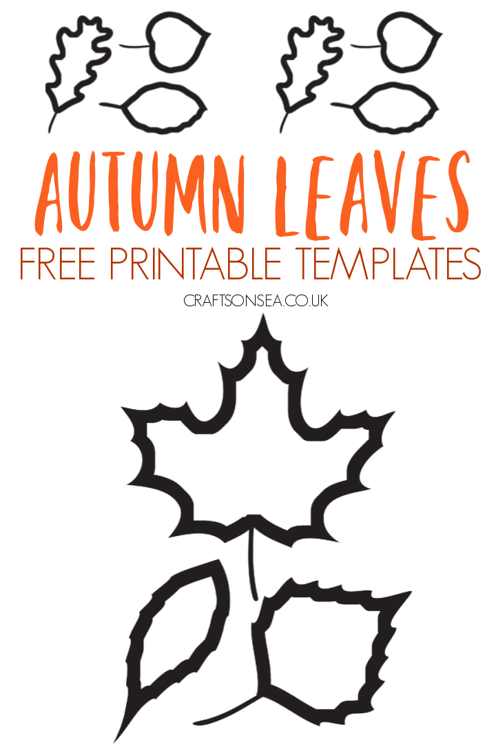 autumn leaves template free printable PDF