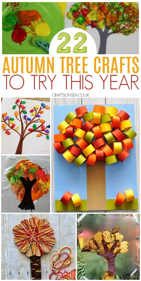 autumn tree crafts for kids to make
