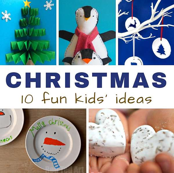 christmas crafts for kids ideas square