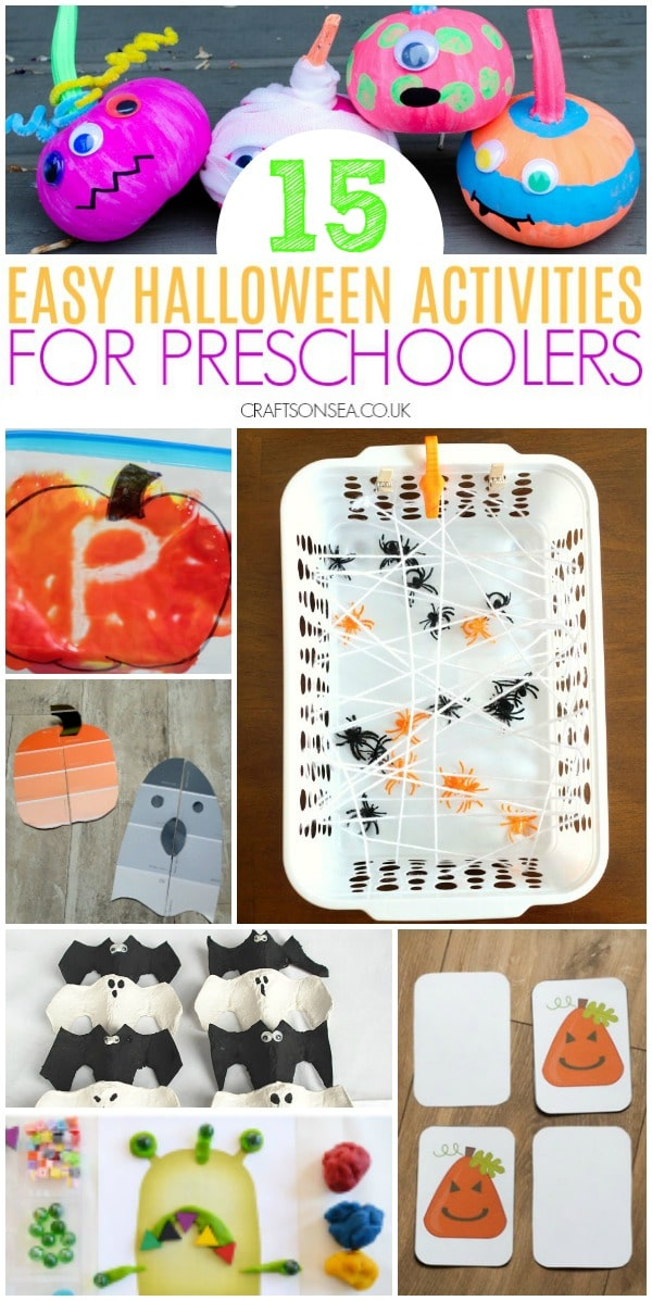 easy halloween activities for preschoolers