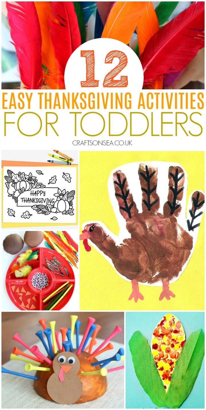 easy thanksgiving activities for toddlers colouring page and playdough
