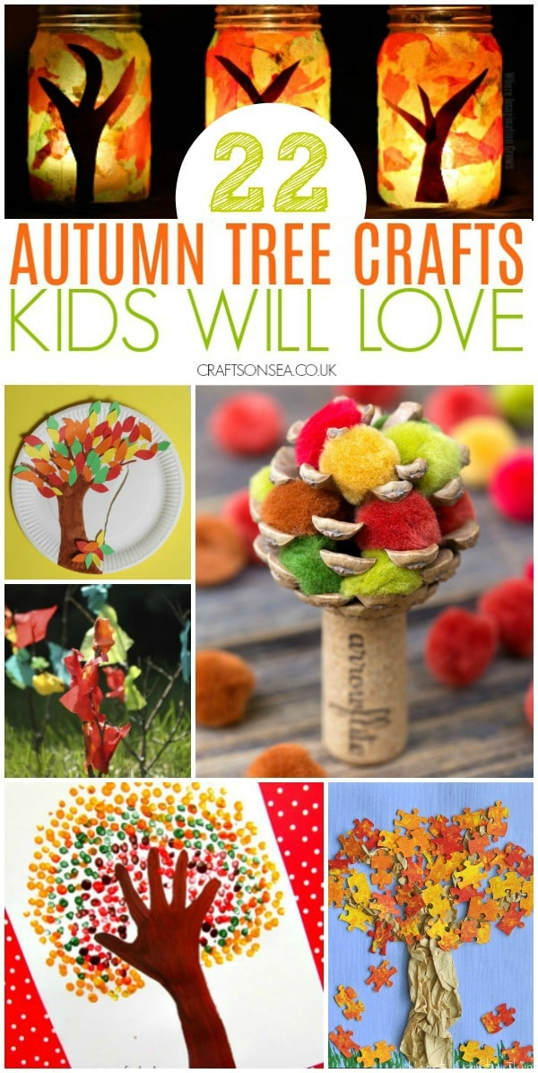 fall and autumn tree crafts for kids easy