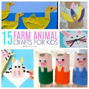 farm animal crafts for kids square image 300