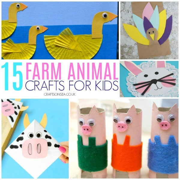 farm animal crafts for kids square image