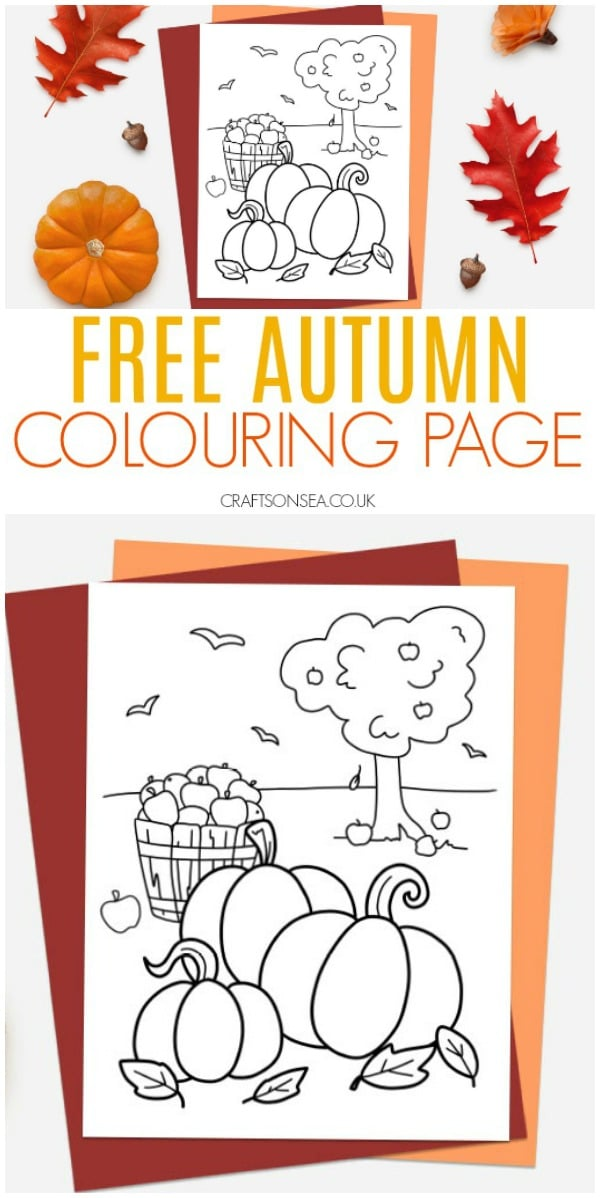 free autumn colouring pages fall