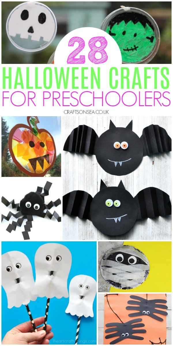 halloween crafts for preschoolers simple