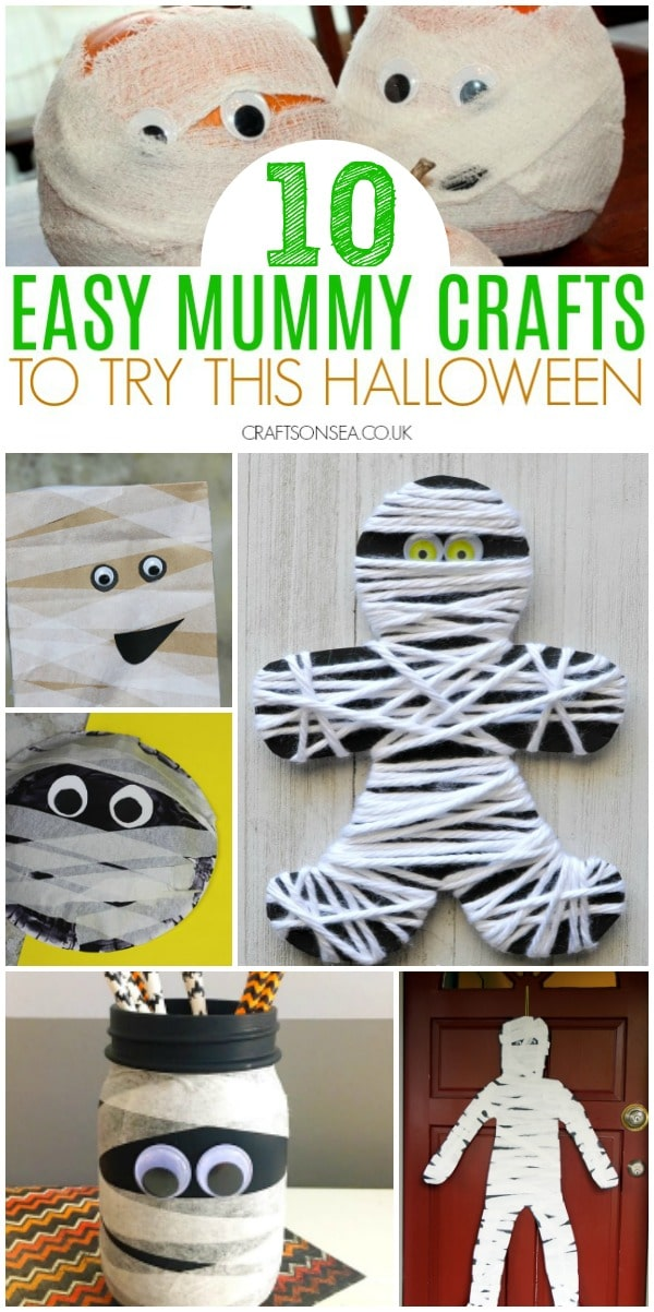 mummy crafts for kids halloween