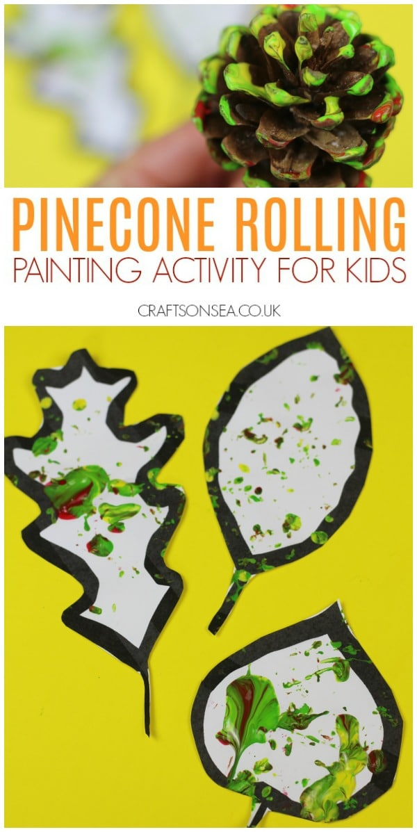 pinecone crafts for kids painting activity