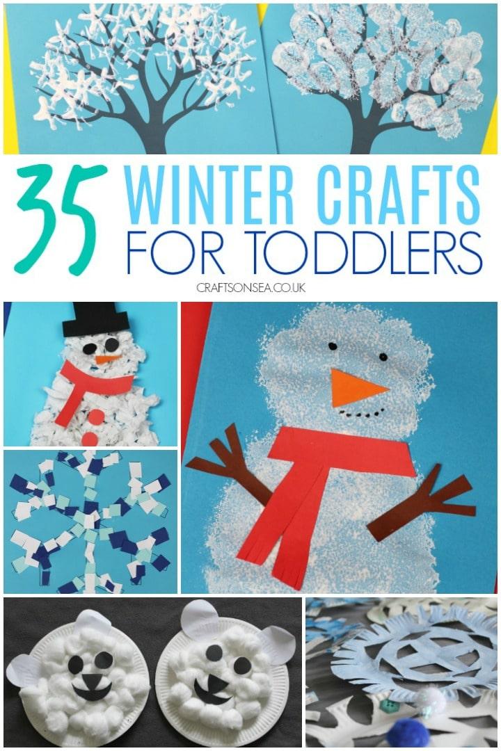 Winterhandwerk für Kleinkinder zu machen