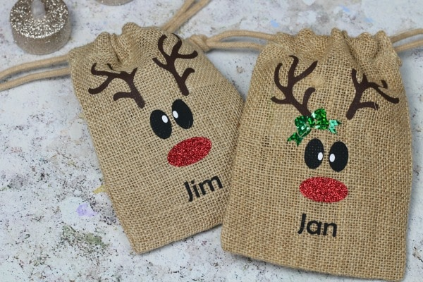 amazon handmade personalised bags reindeer