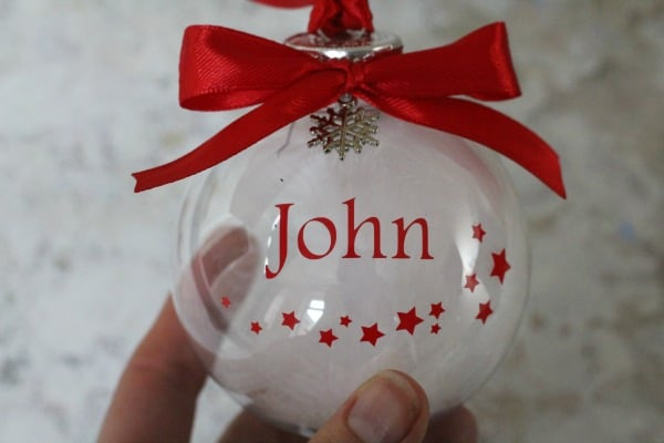 amazon handmade personalised christmas bauble