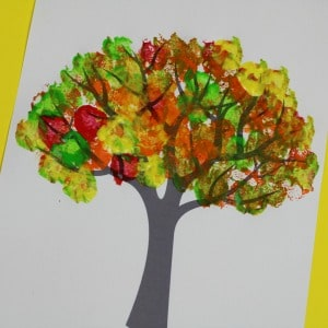 Herbstbaummalerei Ideen 300