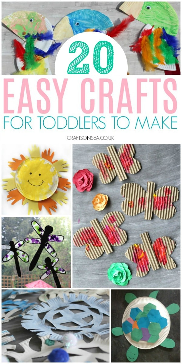 crafts for toddlers to make easy #toddlers #craftsforkids #toddlercrafts