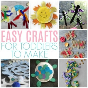 easy crafts for toddlers to make 300