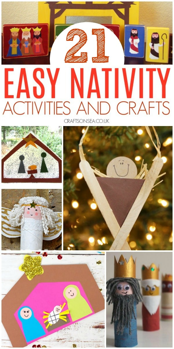 easy nativity activities and crafts for kids preschool toddler #preschool #christmascrafts