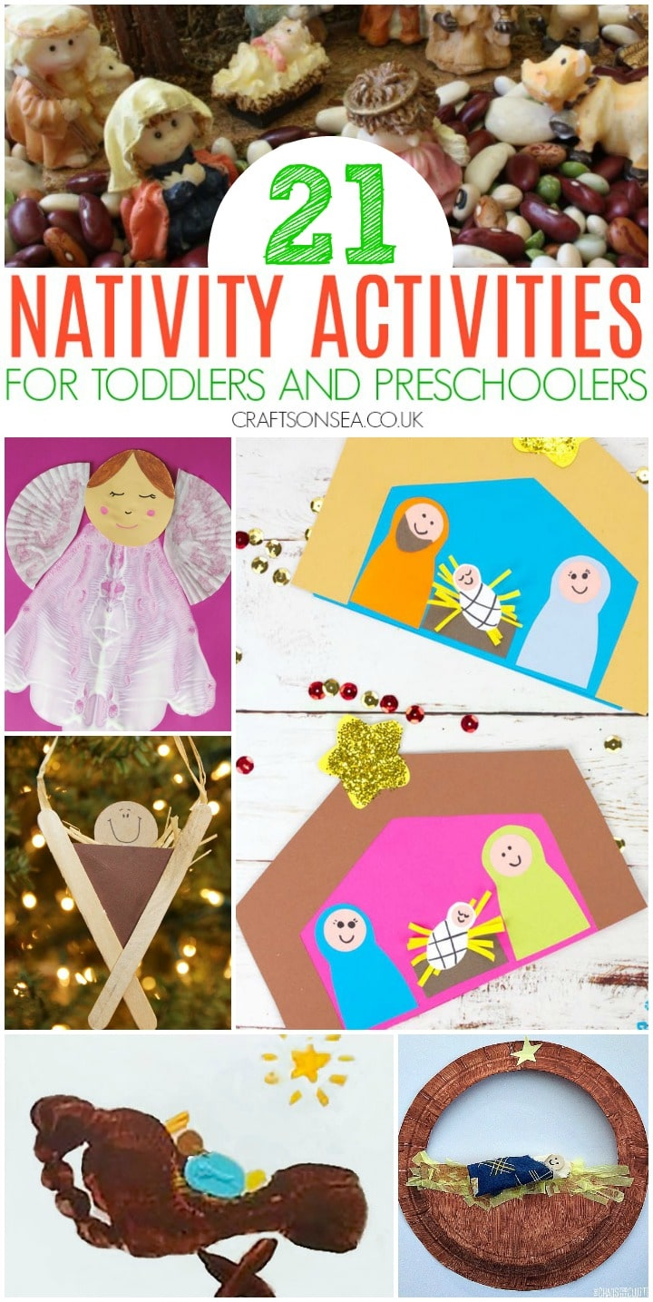 easy nativity crafts and activities for toddlers and preschoolers