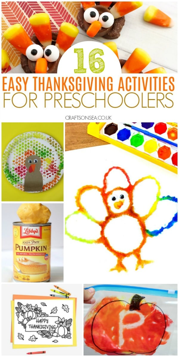 easy thanksgiving activities for preschoolers #preschoolactivities #thanksgiving