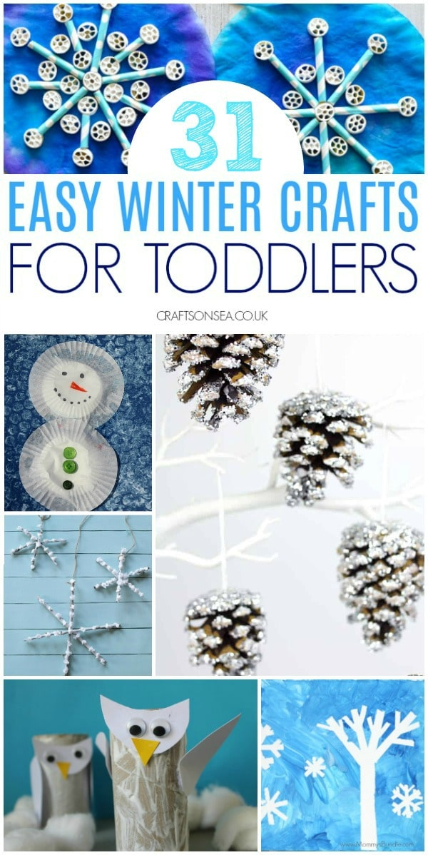 easy winter crafts for toddlers preschool #toddler #wintercrafts #toddlercrafts