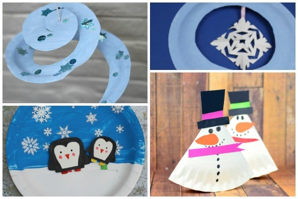 easy winter paper plate crafts for kids