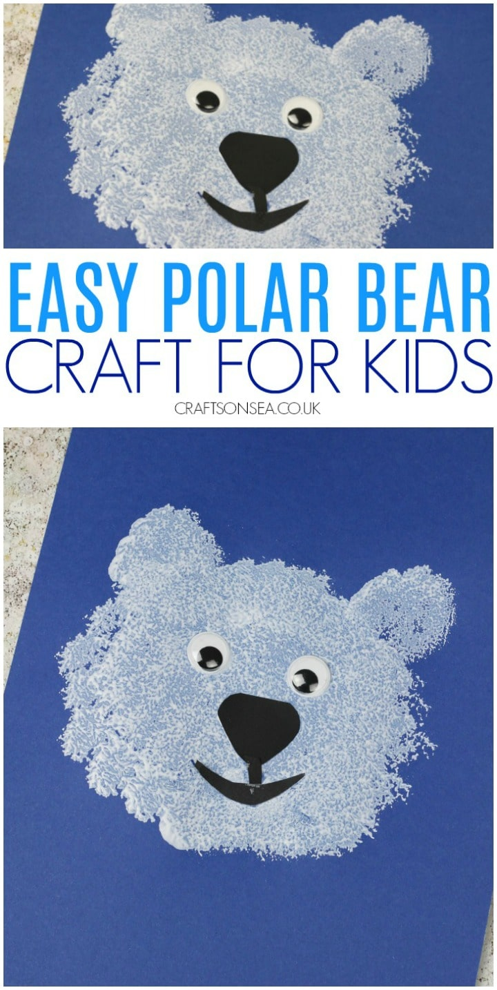 polar bear craft for kids easy preschool toddler