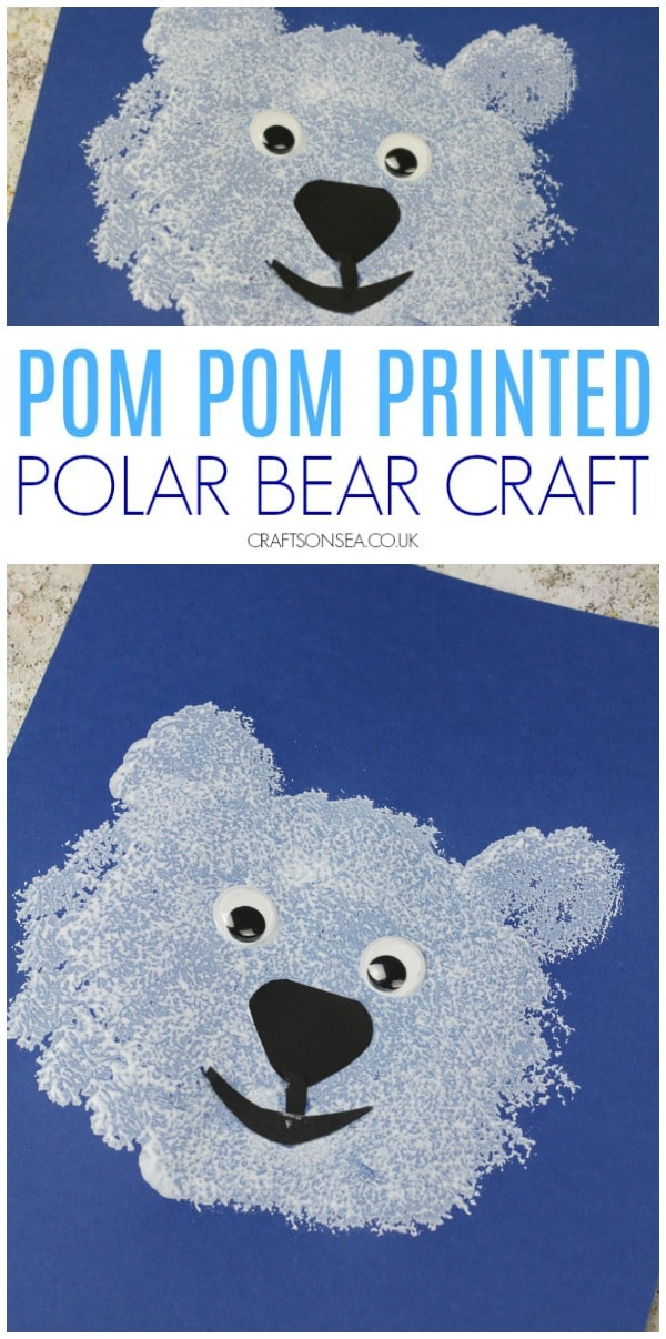 polar bear craft for kids toddlers preschool #polarbear #wintercrafts #toddler