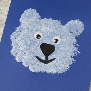 polar bear craft for toddlers to make