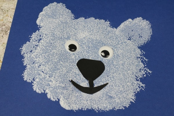 polar bear craft for toddlers preschool