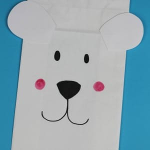 polar bear paper bag craft