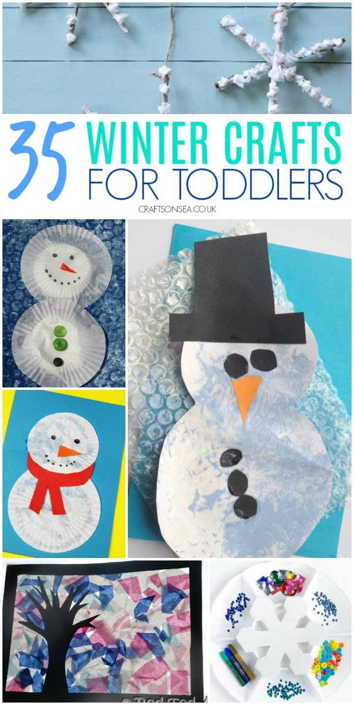 winter crafts for toddlers easy